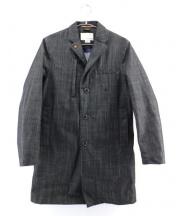 nanamica(ナナミカ)の古着「デニムゴアテックスコート」|ブラック