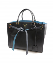 A.D.M.J.(エーディーエムジェイ)の古着「COW HIDE CONCLUSION TOTE BAG」|ネイビー