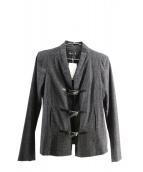 agnes b(アニエスベー)の古着「ノーカラージャケット」|ライトグレー