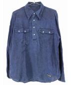 PORTER CLASSIC(ポータークラシック)の古着「プルオーバーリネンシャツ」|インディゴ
