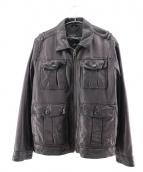 COLE HAAN(コールハーン)の古着「レザージャケット」|ブラック