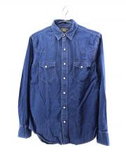 RRL(ダブルアールエル)の古着「シャンブレーシャツ」 ネイビー