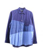 BLACK LABEL CRESTBRIDGE(ブラックレーベルクレストブリッジ)の古着「ロングスリーブシャツ」|ネイビー