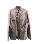 HUGO BOSS(ヒューゴボス)の古着「ラムレザージャケット」|ブラウン