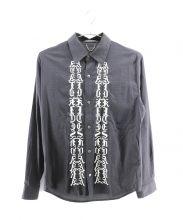 CHRISTIAN DADA(クリスチャンダダ)の古着「ロングスリーブ刺繍シャツ」|ブラック