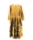 mina perhonen(ミナペルフォネン)の古着「フォレストドットドレス」|オリーブ