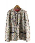 Coohem(コーヘン)の古着「ニットジャケット」|ホワイト