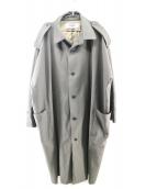 BASISBROEK(バーシスブルック)の古着「エポレットオーバーステンカラーコート」 オリーブ