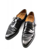 Enzo bonafe(エンツォボナフェ)の古着「モンクストラップシューズ」|ブラック