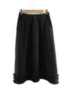 ROBE DE CHAMBRE COMME DES GARCONS(ローブドシャンブルコムデギャルソン)の古着「ウールスカート」|ブラック