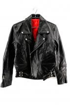 freedom(フリーダム)の古着「ダブルライダースジャケット」 ブラック