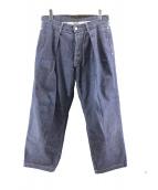JOSWICK(ジョスウィック)の古着「ワイドプリーツデニム」|インディゴ
