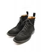 Trickers(トリッカーズ)の古着「ウイングチップカントリーブーツ」 ブラック