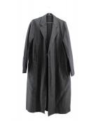EN ROUTE(アンルート)の古着「コットンリネンベルデットコート」|ブラック