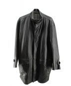DURBAN(ダーバン)の古着「ラムレザーコート」|ブラック