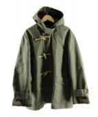 Engineered Garments(エンジニアードガーメンツ)の古着「コーティングダッフルコート」|オリーブ