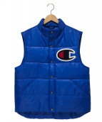 SUPREME × Champion(シュプリーム × チャンピオン)の古着「パフィーベスト」|ブルー