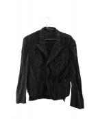 Yohji Yamamoto(ヨウジヤマモト)の古着「レースジャケット」|ブラック