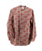 Paul Smith(ポールスミス)の古着「ペイズリープリントノーカラーシャツ」