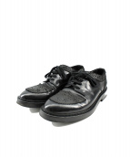 KRIS VAN ASSCHE(クリスヴァンアッシュ)の古着「チップ切替レザーシューズ」|ブラック