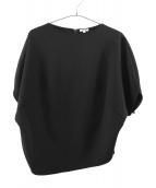 ENFOLD(エンフォルド)の古着「ダブルクロス1ラウンドアームPO・カットソー」|ブラック