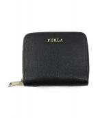 FURLA(フルラ)の古着「ラウンドファスナーウォレット」|ブラック
