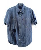LEVI'S × stussy(リーバイス × ステューシー)の古着「ワッペンデザインシャンブレーシャツ」|インディゴ