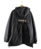 NAPAPIJRI(ナパピリ)の古着「ルーズフィットロングアノラックパーカー」|ブラック
