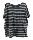 PORTER CLASSIC(ポータークラシック)の古着「アーティストボーダーTシャツ」|ブラック×グレー