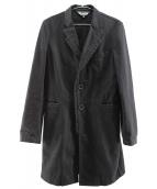 BLACK COMME des GARCONS(ブラックコムデギャルソン)の古着「デザインラペルコットンコート」|ブラック