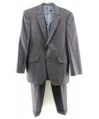 TAKEO KIKUCHI(タケオ キクチ)の古着「シルク/ウールセットアップスーツ」|ネイビー