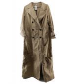 CINOH(チノ)の古着「袖ジップロングトレンチコート」 ベージュ