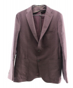 TAGLIATORE(タリアトーレ)の古着「2Bシングルジャケット」|ワインレッド