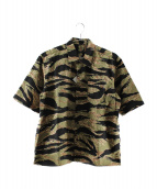SOPHNET.(ソフネット)の古着「S/Sターガーカモレギュラーカラーシャツ」 カーキ