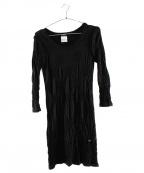 CHANEL()の古着「ジャージーメッシュワンピース」|ブラック