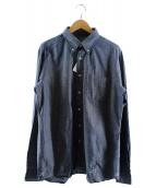 UNIFORM EXPERIMENT(ユニフォームエクスペリメント)の古着「フィジカルフィットネスシャンブレーボタンダウンシャツ」 ブルー