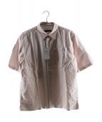SOPHNET.(ソフネット)の古着「S/Sオックスフォードストライプレギュラーカラーシャツ」|ピンク×ホワイト