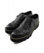 foot the coacher(フットザコーチャー)の古着「サイドレースアップシューズ」|ブラック