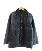 MACKINTOSH(マッキントッシュ)の古着「ブラックウォッチチェックキルティングジャケット」|ネイビー×グリーン