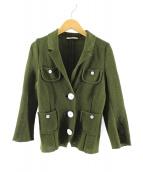 mina perhonen(ミナペルホネン)の古着「nostalgiaニットジャケット」 グリーン