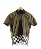 DSQUARED2(ディースクエアード)の古着「裾切替サイドジップポロシャツ」|カーキ