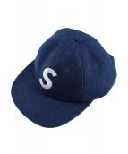 SUPREME(シュプリーム)の古着「ウールSロゴ6パネルキャップ」 ネイビー