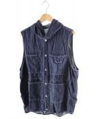 SASSAFRAS(ササフラス)の古着「ツリーチョッパーバドベスト」 インディゴ