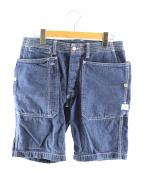 SASSAFRAS(ササフラス)の古着「フォールリーフデニムショートパンツ」|インディゴ