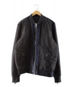 DIESEL(ディーゼル)の古着「MA-1ジャケット」 ブラック