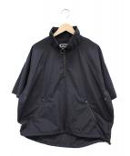 KIIT(キート)の古着「ハーフジップハイネックシャツブルゾン」|ブラック