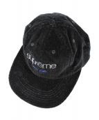 Supreme(シュプリーム)の古着「ワッフルコーデュロイクラシックロゴ6パネル」|ブラック