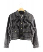 ISSEY MIYAKE SPORTS(イッセイミヤケスポーツ)の古着「デニムジャケット」|ブラック