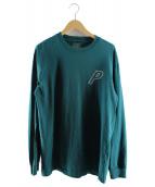 PALACE(パレス)の古着「P-リンクロングスリーブカットソー」|ブルーグリーン