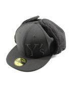 Y's × New Era(ワイズ × ニューエラ)の古着「ドッグイヤーワイズロゴキャップ」|ブラック